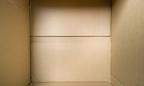 a photo of an empty parcel